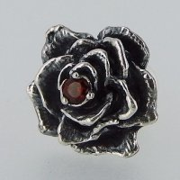 AP-03 薔薇 石付き ピアス